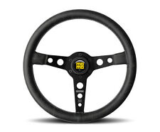 MOMO Prototipo Heritage 350mm Steering Wheel Distressed Black Leather PRH35BK2B