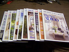 13951 Architectural Digest Magazine 10 issues 2012