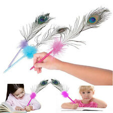 "Dazzling Toys 12 Pcs Peacock Marabou Feather Pens 17"" High Quality Real Feathers"