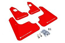 Rally Armor Mud Flaps Guards for 08-15 Lancer EVO X (Red w/White Logo)