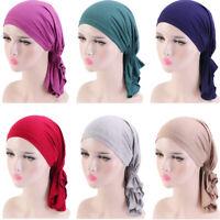 Muslim Women  Chemo Pirate Cap Turban Hat Hijab Stretch Head Scarf Wrap Beanie