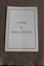 POEMS BOOK BY SIMONE RENAUD US AIRBORNE WW2 NORMANDY D-DAY ST-MERE-EGLISE 82 101