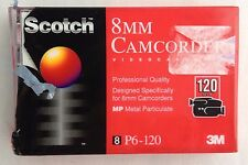 Scotch 8MM 120 Minute Professional Quality Video Camcorder Tape P6-120 3M  MP