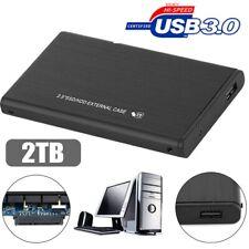 USB 3.0 2TB External 2.5'' Hard Drive Disk Storage HDD PC Laptop Portable Black