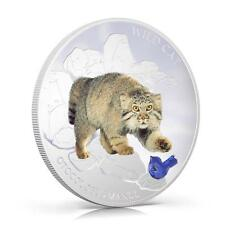 Fiji 2013 Wild Cat IV Otocolobus Manul Pallas Dogs & Cats 1 Oz Proof Silver Coin