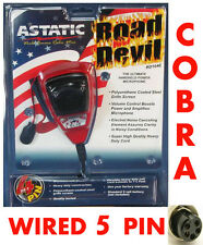 Astatic RD104E Noise Canceling Microphone 5Pin Plug for Cobra,Uniden +More