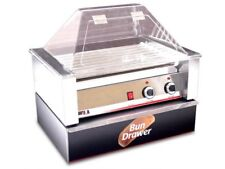 HOT DOG ROLLER GRILL 30 HOTDOGS w/ SNEEZE GUARD BUN BOX