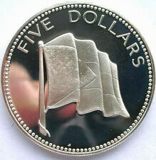 Bahamas 1974 Flag 5 Dollars 1.25oz Silver Coin,Proof
