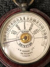Rare Antique Damp Detector A.W.Gamage Ltd,London In Leather Case