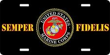 "Marine Corps USMC EGA License Plate 6"" x 12"" Made in USA by Veterans"
