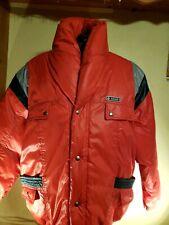 Men's Red Puffer Ski Snowboard Jacket Parka Size Small Down Filled  Pocket