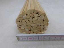 (B330)  65Stk 100cm Viertelstab Abachi 7x7mm Viertelrund Holzleiste