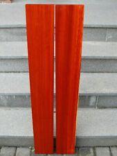Padouk Bretter 2 x 105 x 13,7 x 2,4 cm korallenrotes Holz Tonholz