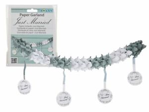 Wedding Table Decorations - Just Married Paper Deco - Celebration