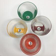 Luminarc Pool Parlor Drinkware Set Glasses Billiards Balls Bar