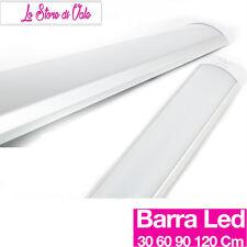 NEON BARRA LED SMD APPLIQUE SOFFITTO PLAFONIERA 30 60 90 120 150 CM CALDA FREDDA