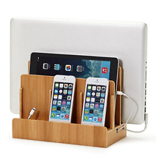 Bamboo Charging Dock Station for iphones, Smart Phones, Tablets & Laptops.. New