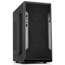 CIT Barricada Malla Micro-atx Pc Gaming Funda Usb3 Negro interior de malla frontal