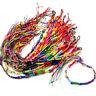 60pcs~Colourful Handmade Braided Friendship Bracelets~uk seller
