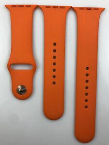 Original Apple Watch Hermes Sport Band 42mm 44mm Orange strap gold Pin Prototype