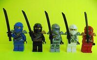 5x Lego Ninjago Ninja  Zane Jay Kai Cole Titanium Samurai Figuren Minifiguren
