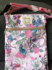 Loungefly Disney Sleeping Beauty Aurora Crossbody Passport Bag Fairies NWT Pink