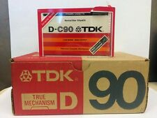 TDK D-C90 TRUE MECHANISM BLANK AUDIO CASSETTE TAPE NEW RARE 1979 YEAR JAPAN MADE