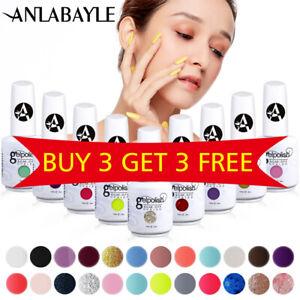 Anlabayle 15ml UV LED Gel Nail Polish Soak Off Colour Base Top Coat Varnish DIY