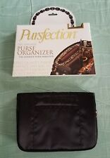 Pursfection Purse Organizer 9 Pockets Black w/ Pink Leopard Interior NIB