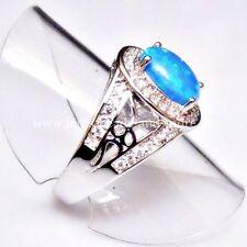 Ovale Echte Edelstein-Ringe mit Opal für Damen