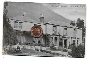 ALVA Clackmannanshire Postcard The Lady Aberdeen Home of Rest 1904 RP