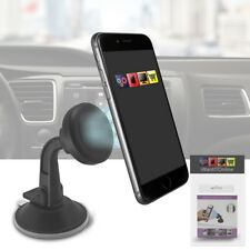 Magnetic Adjustable Universal Car Windscreen Suction Mount Phone Holder - BLACK