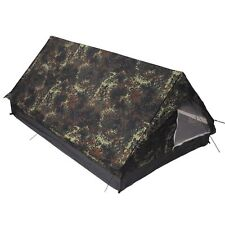 Standard Two Man Military Tactical Double Shelter - German BW Army Flectarn Camo