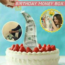 Cake ATM Happy Birthday - Money Cake Dispenser Box, Cake Money Pull Out Kit US