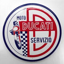 24 Inch Moto Ducati Servizio Embossed Metal Sign