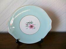 Vintage Royal Albert Elfin Cake Plate, Mint Green & Pink Flower