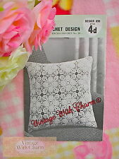 Vintage 1960s Crochet Pattern For A Cushion Cover In Pineapple Motif FREE UK P&P
