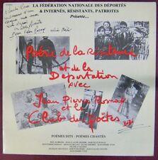 Poésie de la Résistance et de la déportation 33 tours Jean-Pierre Rosnay