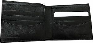 Paul Smith  Black Leather 8 Credit Card Billfold Wallet