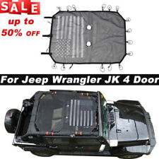 Mesh SunShade Bikini Top Net Cover For Jeep Wrangler JK JKU 4-Door Accessories