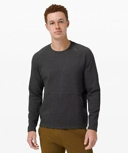 🍋 Lululemon At Ease Crew Medium Heathered Black 2021 Men's NWT