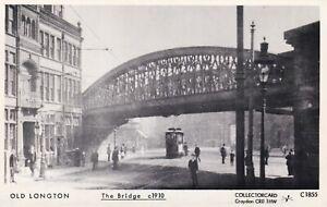 Pamlin repro photo postcard C1855 Railway Bridge Tram Longton Stoke on Trent c19