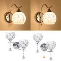 Modern LED Crystal Wall Light Lamp Hallway Porch Bedroom Sconce Lighting Fixture