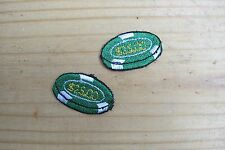 #3134B Lot 2Pcs Casino Poker Chips Vegas Embroidery Iron On Appliqué Patch