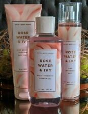 SET Bath & Body Works ROSE WATER & IVY Shower Gel*Mist*Body Cream