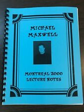 New ListingMike Maxwell Montreal 2000 magic lecture notes - Out of print