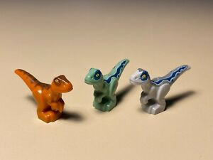 Lego Baby Dino Jurassic World Baby Raptors Dinosaurs Lot of 3