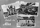 Cartolina - Postcard - Saluti da - Alba - vedutine - 1955