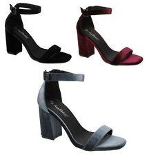 Casual Block Ankle Straps Textile Women's Sandals & Beach Shoes