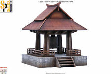 Japan TEMPLE BELL SAMURAI/ JAPANESE 28mm Laser cut MDF scale Building B016
